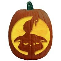 "One of 700+ FREE stencils for pumpkin carving and more! www.pumpkinlady.com ""The Babysitter"" #FreePumpkinCarvingPattern"
