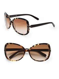 6c9bd49cb1d3 Tory Burch - Oversized Square Thin Rim Sunglasses