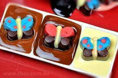 Butterfly  Chocolate  Fardoulis Chocolates, Chocolate Plato  www.choc.com.au