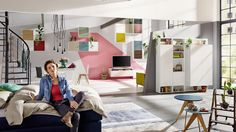 Hulsta - NOW Easy Urban Living, Modular Storage, Wall Mount, Toddler Bed, Projects To Try, Furniture, Home Decor, Tv Units, Homes