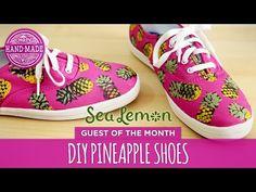 1ae5ef1b0e72 DIY Pineapple Shoes by Sea Lemon - White Shoes Challenge Week - HGTV  Handmade