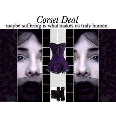 """""""Maybe suffering is what makes us truly human""""  Karina Lace Overlay Corset Dress http://www.corsetdeal.com/Karina-Lace-Overlay-Corset-Dress_p_2967.html  Your Price:$100.05 Retail Price:$130.05  40% Discount code : XMAS40 #corsetdeal #corset  #waisttrainingcorset"""