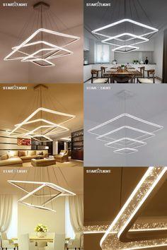 [Visit to Buy] New Creative modern LED Chandelier lights Bubble plexiglass suspension hanging modeling lamp for dinning room Chandelier #Advertisement