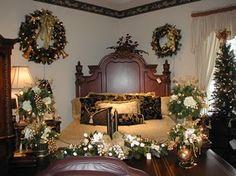 Decoraciones del dormitorio Niza para la Navidad en habitación con elegante temático interior del dormitorio de Navidad Ideas de decoración 76 Planes