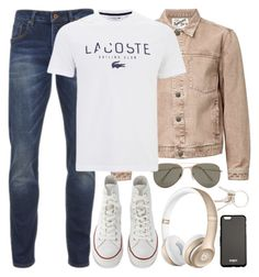 """""""The boy on the train"""" by alexandra-provenzano ❤ liked on Polyvore featuring Givenchy, Topman, SELECTED, Scotch & Soda, Lacoste, Converse, men's fashion and menswear"""
