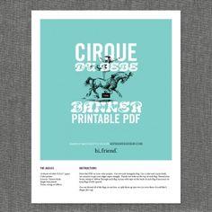 Baby Shower-Cirque du Bebe Banner- Invatation- Freebie- download PDF!