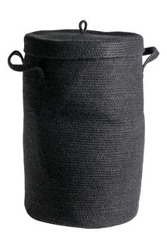 Kosz na pranie z pokrywką - Czarny - HOME | H&M PL 1