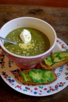 Kale soup with lentils