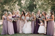 Top 5 Purple Wedding Color Combos for 2019 - purple shades bridesmaid dresses Source by deerpearlflower - Rustic Bridesmaid Dresses, Bridesmaid Dress Colors, Wedding Bridesmaids, Wedding Dresses, Lilac Wedding, Summer Wedding Colors, Vintage Purple Wedding, Dark Purple Wedding, Wedding Flowers