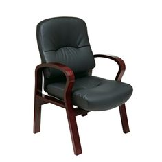 Office Star Products Work Smart Black Eco Leather Visitor's Chair | Overstock.com Shopping - The Best Prices on Office Star Products Visitor Chairs