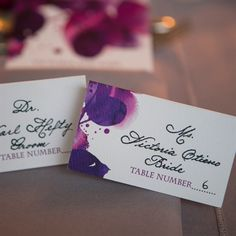 Watercolor Place Cards to match the invitations