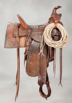 F.A. Meanea #14 Fully Carved Saddle - Old West Events
