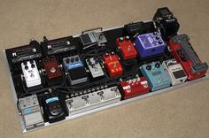 Huge Boutique Pedalboard by Vertex Effects Systems