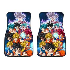 All Transformations Goku Front Car Mats (Set Of Car Mats, Car Floor Mats, Goku All Transformations, Quilt Bedding, Daily Wear, Dragon Ball, Rubber Rain Boots, Great Gifts, Flooring