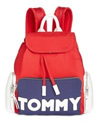 Tommy Hilfiger Small Backpack In Navy / Red Small Backpack, Backpack Purse, Fashion Backpack, Tommy Hilfiger Fashion, Novelty Bags, Bold Logo, Red Bags, Cute Bags, School Backpacks