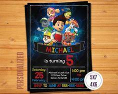 Paw Patrol Birthday Invitation Printable Party Invite
