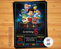 PAW PATROL INVITATION Paw Patrol Birthday Party Paw Patrol Chalkboard Invitation Paw Patrol Printables Paw Patrol Party Supplies Paw Patrol Invite #pawpatrol #birthdayparty #chalkboardinvitation #birthdayinvitation #partysupplies
