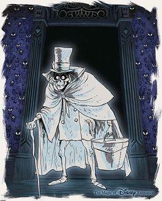 Haunted Mansion Halloween, Disney Halloween, Vintage Halloween, Vintage Witch, Disney And More, Disney Love, Dark Disney, Disneysea Tokyo, Hatbox Ghost