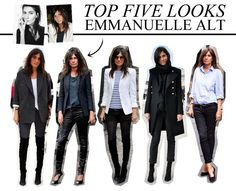 TOP FIVE | EMMANUELLE ALT LOOKS