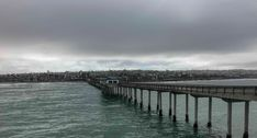 Out at the end of the Ocean Beach Pier, it was cold and windy, but the view was fab!