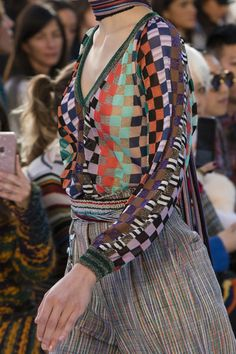 Runway pictures from the Missoni show at Milan Fashion Week Spring 2018.