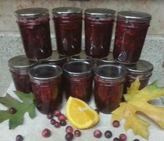 LESLIE'S CRANBERRY ORANGE SAUCE. An amazing combination with beautiful cranberries and the sweet/tartness of oranges
