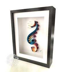 JJBLN Framed Quilled Paper Art: Seahorse Quilling Wall on Behance