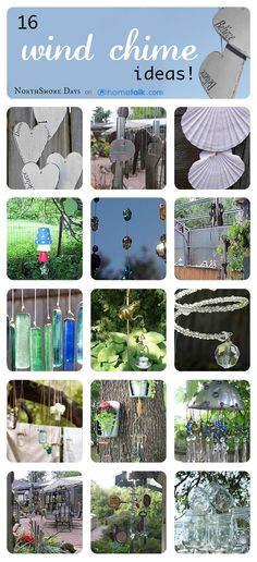 16 Gorgeous DIY Wind Chime Ideas! While I like wind chimes, this could be a form of torture to the Trout men.