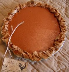 Another fake pumpkin pie...good kitchen or pie safe decoration for Fall
