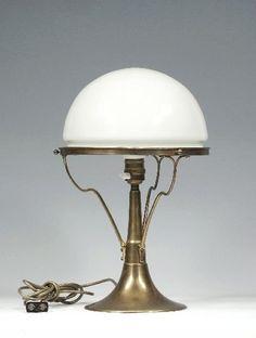 Epic  Table lamp Richard Riemerschmid Deutsche Werkst Lot