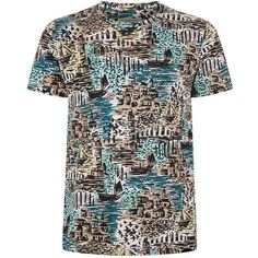 637f6952 Burberry Coastal Print T-Shirt (290 CAD) ❤ liked on Polyvore featuring men's