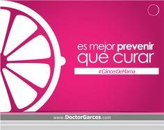 Porque la prevención siempre será la mejor medicina contra el #CáncerDeMama, infórmate, autoexplórate, y comparte!  Citas 434-2130 anexo 148 consultas@doctorgarces.com