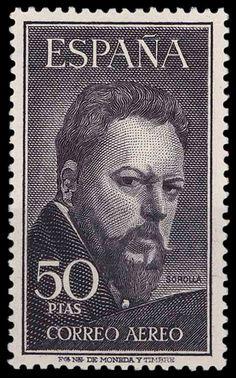 Joaquín Sorolla  pintor - Sello de España 1953