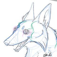Working on those flower fox lines! #art #doodle #drawing #digitalart #FlightRising #sketch #artistofinstagram #dogsofinstagram #foxesofinstagram