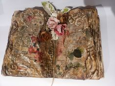 Martinel: Как да направим състарена книга - стъпка по стъпка, втора част ( DIY aged vintage rustic wedding book - 2)