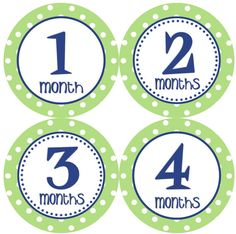 Baby Month Stickers  Boy Monthly Onesie Stickers Blue Green by getthepartystarted, $12.00 more baby shower gift ideas at  http://www.etsy.com/shop/getthepartystarted?section_id=6771147
