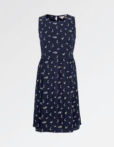 Buy Karen Silhouette Birds Dress today from FatFace. Navy Flats, Bird Dress, Fat Face, Aw17, Navy Dress, Ladies Fashion, Womens Fashion, High Neck Dress, Silhouette
