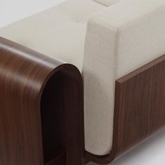 Closeup on the ON sofa by Oscar Niemeyer available at ESPASSO. Midcentury modern and contemporary Brazilian design.