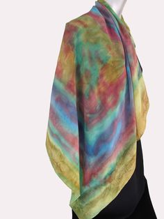 Scarves HandPainted Square Crepe de Chine Silk by VivienPollackDesign,  Sold but have me make one for you