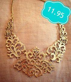 Bronze Bib Necklace