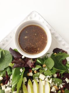 Balsamic Vinaigrette is one of my favorite salad dressings. However, one  thing that it usually isn't lacking is oil. Oil, oil. and more oil!  I've lightened up this classic dressing by subbing water and a bit more  vinegar for some of the oil. It's an old but rather faithful trick that I  picked up from my mom some years ago when she wouldmake her own italian  salad dressing.And by 'make her own', I mean mix oil and water with a  packet. Tee-hee...