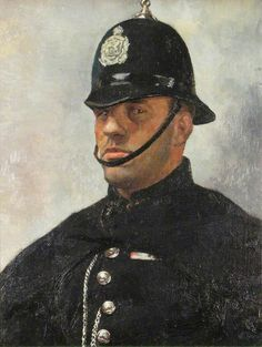 Painting of a policeman by Charles Frederick Tunnicliffe Sirens, Dog Day Afternoon, Police Uniforms, Police Gear, Nature Artists, Call Of Cthulhu, Art Uk, Your Paintings, Painting & Drawing