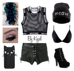 """""""No. 27"""" by kajalsandy123 on Polyvore featuring Moschino and Manokhi"""