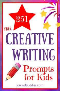 Creative writing prompts are a great way to get kids' minds going, as a question or idea can inspire all kinds of imaginative reflections & creative solutions.