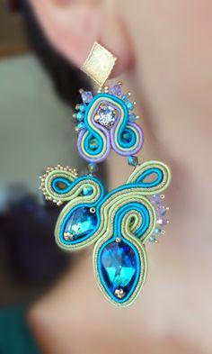 Soutache earrings --- design by Serena Di Mercione