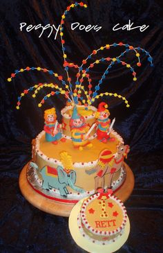 Peggy Does Cake.: Rett's Circus Birthday Cake! (Click any photo to enlarge it!)