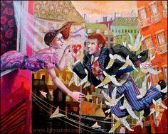 """Faby artiste peintre - """"L Amour donne des ailes !"""""""