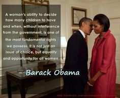 The Awesome Quote Going Around About Women's Rights From Barack Obama politics