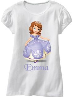 Sofia The First Disney Name Iron On by SleepingOwlCreations, $3.00- love this for Taylor, she loves Sophia :-)