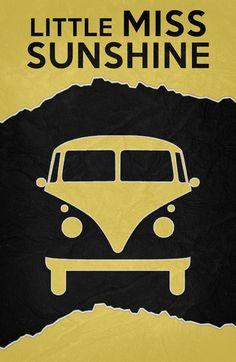 Little Miss Sunshine (2006) ~ Minimal Movie Poster by Begum Ozdemir #amusementphile